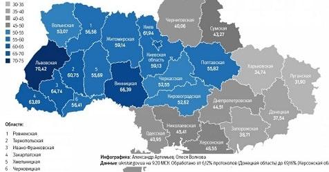 Украина: разлом востока и запада продолжается